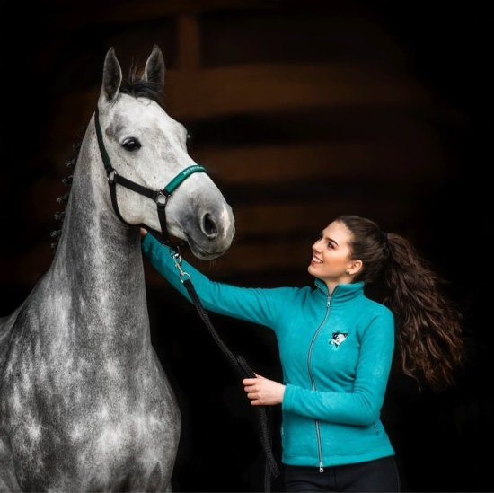 EQ Queen Fleece bluse Dina, Tyrkis Rideudstyr