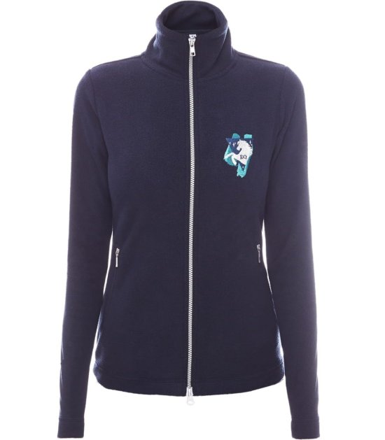EQ Queen Fleece bluse Dina, Navy Rideudstyr